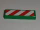 Part No: 63864pb045L  Name: Tile 1 x 3 with Red and White Danger Stripes Pattern Model Left Side (Sticker) - Set 60097