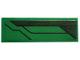 Part No: 63864pb086L  Name: Tile 1 x 3 with Dark Green Stripe and Black Lines Pattern Model Left Side (Sticker) - Set 76114