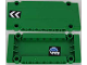 Part No: 64782pb016R  Name: Technic, Panel Plate 5 x 11 x 1 with Black and White Chevrons on Outside and Globe and White 'WR' World Racers Logo on Inside Right Pattern (Stickers) - Set 8864
