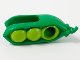 Part No: 66974pb01  Name: Minifigure, Headgear Head Cover, Costume Pea Pod with Lime Peas Pattern