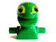 Part No: 85946pb01  Name: Minifigure, Head Modified Frenzy Pattern with Lime Eyes and Open Jagged Mouth, Torso Extension with Handles