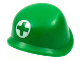 Part No: 87998pb01  Name: Minifigure, Headgear Helmet Army with Green Cross in White Circle Pattern (Medic)