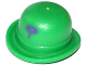 Part No: 95674pb03  Name: Minifigure, Headgear Hat, Bowler with Purple Question Mark Pattern
