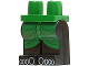 Part No: 970c11pb01  Name: Minifigure, Legs with Hips - Black Legs with Adventurers Desert Green Kilt & Toes Pattern (Hotep)