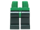 Part No: 970c80  Name: Minifigure, Legs with Hips - Dark Green Legs