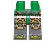 Part No: 970c85pb18  Name: Hips and Dark Bluish Gray Legs with Lime Armor and Orange and Yellow Circuitry, Lime Hexagonal Knee Pads and Lime Boots Pattern