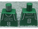 Part No: 973bpb154  Name: Torso NBA Boston Celtics #8 (Green Jersey) Pattern