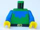 Part No: 973p49c01  Name: Torso Castle Forestman Blue Collar Pattern / Blue Arms / Yellow Hands