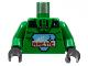 Part No: 973p7bc01  Name: Torso Arctic Logo Large and 'A2' Pattern / Green Arms / Black Hands