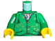 Part No: 973pb0161c01  Name: Torso Harry Potter Gilderoy Green Vest Pattern / Green Arms / Yellow Hands
