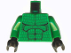 Part No: 973pb0185c01  Name: Torso Batman Muscles Outline with Scales Pattern / Green Arms / Black Hands
