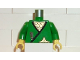 Part No: 973pb0257c01  Name: Torso Castle Ninja Wrap, Dark Gray Dagger, Gold Star, Gold Scale Mail Pattern / Green Arms / Yellow Hands