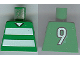 Part No: 973pb0370  Name: Torso Soccer Horizontal White Stripes and No. 9 Back Pattern