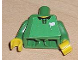 Part No: 973pb0426c01  Name: Torso Soccer Referee (Line) White Flag Pattern (Sticker) / Green Arms / Yellow Hands