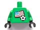 Part No: 973pb0778c01  Name: Torso Soccer US Goalie, US Flag Sticker Front, White Number Sticker Back (specify number in listing) / Green Arms / Black Hands