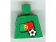 Part No: 973pb0783  Name: Torso Soccer Portuguese Goalie, Portuguese Flag Sticker Front, White Number Sticker Back (specify number in listing)