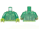 Part No: 973pb1220c01  Name: Torso Muscles Outline with Swamp Plants and Scales Pattern / Green Arms / Lime Hands