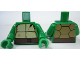 Part No: 973pb1342c01  Name: Torso Turtle Shell with Crack and Dark Brown Horizontal Belt Pattern / Green Arms / Green Hands