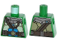 Part No: 973pb1668  Name: Torso Turtle Shell with Gauge and Blue Diving Bottles Pattern