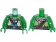 Part No: 973pb1668c01  Name: Torso Turtle Shell with Gauge and Blue Diving Bottles Pattern / Green Arms / Green Hands