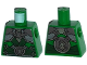 Part No: 973pb1754  Name: Torso Ninjago Shoulder Armor with Dark Green Belts and Dragon Emblem Pattern