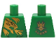 Part No: 973pb1822  Name: Torso Ninjago Gold Dragon Front and Gold Dragon and 'LLOYD' Back Pattern