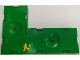 Part No: BA186pb01  Name: Stickered Assembly 24 x 16 x 1.33 with Yellow Minifigure Soccer Player Pattern on Green Background (Sticker) - Set 3570 - 2 Sports Field Section 8 x 16, 1 Tile 2 x 2