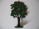 Part No: FTFruitA1  Name: Plant, Tree Flat Fruit Painted with Painted Apples with solid base (1950's version)