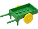 Part No: fabad6c01  Name: Fabuland Utensil Wheelbarrow (2 Wheels)