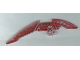Part No: 44813pb01  Name: Bionicle Weapon Staff of Light Blade, Marbled Dark Red Pattern