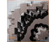 Part No: 6024px3  Name: Baseplate, Raised 32 x 32 Canyon with Gray Underwater Pattern