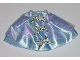 Part No: belvskirt29  Name: Belville, Clothes Skirt Long, Satin with 3 Silver Bows Pattern and Iridescent Blue Layer (5834)