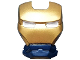 Part No: 10908pb07  Name: Minifigure, Visor Top Hinge with Gold Face Shield and White Eyes no Outline Pattern