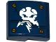 Part No: 15068pb032  Name: Slope, Curved 2 x 2 with Screws and Ninjago Lightning Power Emblem Pattern (Sticker) - Set 70754