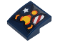 Part No: 15068pb107  Name: Slope, Curved 2 x 2 with Stars and Stripes Armor Plates and Yellow Circle Arc Reactor Pattern (Sticker) - Set 76077