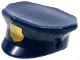 Part No: 15530pb01  Name: Minifigure, Headgear Hat, Police with Gold Badge (printed) Pattern