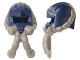 Part No: 18333pb01  Name: Minifigure, Headgear Helmet Space with Air Mask with Flexible Gray Hoses Pattern