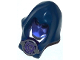 Part No: 18731c01pb01  Name: Minifigure, Headgear Hood with Trans Purple Mask and Silver Medallion with Swirl Pattern