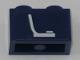 Part No: 3004pb172  Name: Brick 1 x 2 with White Seat (Chair) Pattern (Sticker) - Set 60197