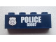 Part No: 3010pb170L  Name: Brick 1 x 4 with Police Silver Star Badge and White 'POLICE 60007' Pattern Model Left Side (Sticker) - Set 60007
