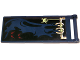 Part No: 30292pb020  Name: Flag 7 x 3 with Rod with Dark Blue Cloth Hung on Yellowish Green Frame, Spider and Dark Red Eyes Pattern (Sticker) - Set 70732