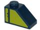 Part No: 3040pb023L  Name: Slope 45 2 x 1 with Dark Blue Stripe on Lime Background Pattern Model Left Side (Sticker) - Set 70839