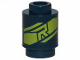 Part No: 3062bpb060  Name: Brick, Round 1 x 1 Open Stud with Lime 'R' Insignia Pattern