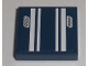 Part No: 3068bpb0298  Name: Tile 2 x 2 with Groove with White Stripes and '555' Pattern (Sticker) - Set 8194