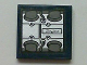 Part No: 3068bpb0436  Name: Tile 2 x 2 with Groove with Arrow with Engine Block and 'Stafford' Pattern (Sticker) - Set 8635