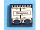 Part No: 3068bpb0656R  Name: Tile 2 x 2 with Groove with Engine Block and 'Stafford' Pattern Model Right Side (Sticker) - Set 8636