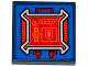 Part No: 3068bpb1008  Name: Tile 2 x 2 with Groove with Gauges and Pentagonal Shield on Screen and Red Circuitry Pattern (Sticker) - Set 70319