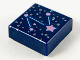 Part No: 3070bpb206  Name: Tile 1 x 1 with Groove with Constellation, Silver and Shiny Pink Stars and Shiny Blue Connecting Lines Pattern