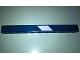 Part No: 32525pb021L  Name: Technic, Liftarm 1 x 11 Thick with White Stripe Pattern Model Left Side (Sticker) - Set 41999