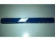 Part No: 32525pb021R  Name: Technic, Liftarm 1 x 11 Thick with White Stripe Pattern Model Right Side (Sticker) - Set 41999